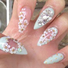 kawaii princess nails