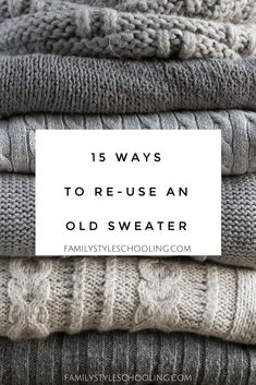 Pullover Upcycling Do not throw away sweaters . Recycle Old Clothes, Diy Clothes, Alter Pullover Diy, Faire Outfits, Sewing Hacks, Sewing Crafts, Upcycled Crafts, Upcycled Vintage, Sewing Projects