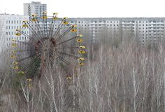A view of the abandoned city of Prypiat near the failed Chernobyl nuclear power plant