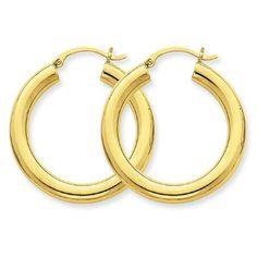 4 mm Tube Hoop Earrings https://www.goldinart.com/shop/14k-earrings/4-mm-tube-hoop-earrings #14KaratGold, #HoopEarrings