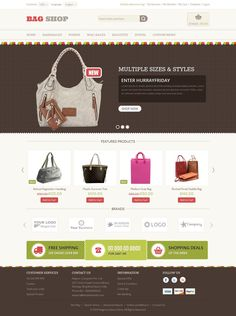 Bag Shop - Magento Responsive Template | Live Preview and Download: http://themeforest.net/item/bag-shop-magento-responsive-template/6659443?WT.ac=category_thumb&WT.z_author=TemplateMela&ref=ksioks