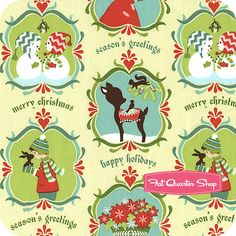 Alpine Wonderland Green Wonderland Yardage SKU# C2901-GREEN - Christmas Cloth Store