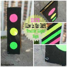 DIY Glow in the Dark Traffic Light