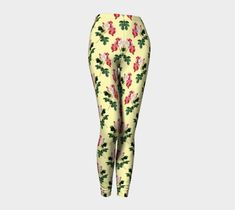 Vintage Flower Leggings, Leggings by Brittany Bonnell. Printed leggings with compression fit performance fabric milled in Montreal Shop Art, Design Lab, Vintage Flowers, Printed Leggings, Workout Leggings, Brittany, Fabric, Clothes, Fashion
