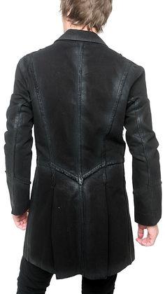 "Men's Marcelo Pequeno - ""BERNAL"" 3/4 Length Denim Jacket in Black Wash"