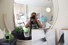 "Meet the Artist! Studio shot for ""Scenes of Art and Science"""