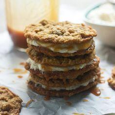 Homemade Salted Caramel Oatmeal Cream Pie Recipe | POPSUGAR Food #recipe #cookie