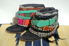 Boho Repurposed Cowboy Boots by MoxieCherie on Etsy