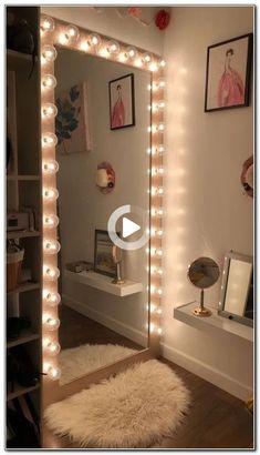 Cute Room Decor, Teen Room Decor, Room Decor Bedroom, Dorm Room, Bedroom Ideas, Cozy Bedroom, Room Decor With Lights, Bedroom Themes, Bedroom Bed