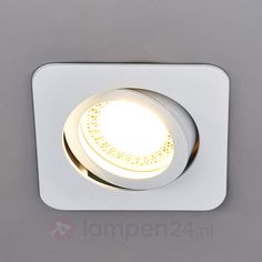 Vierkante LED-inbouwspot Lisara, wit 9950346