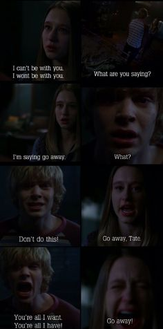 Ahs Murder House- what a sad moment. So what he raped your mother and killed a couple of people... He loves you. Hahaha