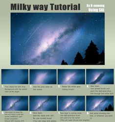 Tutorial : Milky way by R-nowong.devianta… on Tutorial : Milky way by R-nowong. Digital Art Tutorial, Digital Painting Tutorials, Art Tutorials, Galaxy Painting, Galaxy Art, Dark Galaxy, Ipad Art, How To Draw Galaxy, Ipad Kunst