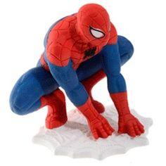 Kakunkoriste- Spiderman, iso Fondant Tutorial, Backrest Pillow, Smurfs, Chibi, Super Heros, Pillows, Birthday, Tutorials, Fictional Characters