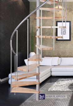 Točité schody | Točité schody - ATRIUM NOVO 120 | SCHODY MORAVA - schody, nerezové zábradlí