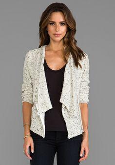 Greylin Olivia Sweater Jacket in Ivory
