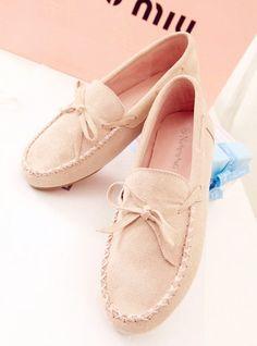 shoes - http://zzkko.com/n199414-s.-bow-flat-shoes-single-shoes-leather-shoes-shoes-Peas.html $20.09