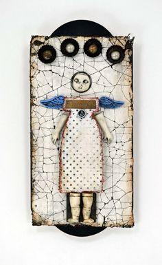"""Angel Mine"" by Indiandollarworks on Etsy. Mixed Media Assemblage."