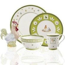 Villeroy & Boch Farmers Spring Tableware. Spring colors and images for tables wanting country dinnerware.