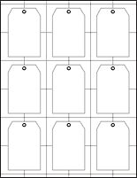 Print your own tags on card stock...design yourself
