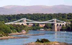Menai Bridge, Anglesey, Wales - the one which keeps the paparazzi away from Will and Kate - the bridge between the Island of Anglesey and the mainland of Wales