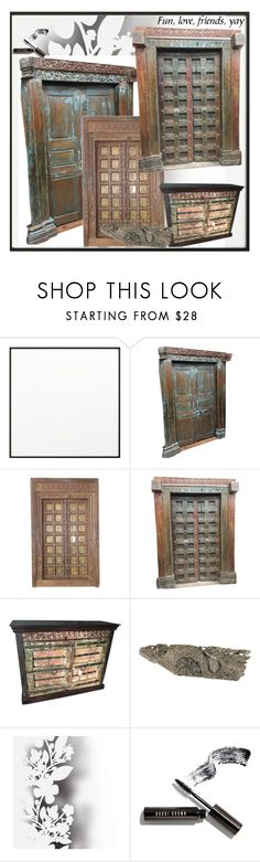 """Antique Carved Antique Doors"" by era-chandok ❤ liked on Polyvore featuring interior, interiors, interior design, home, home decor, interior decorating, By Lassen, Élitis, Bobbi Brown Cosmetics and homedecor"