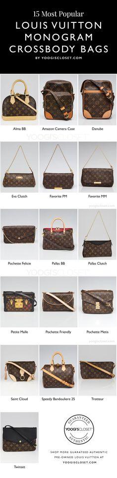 2f8ede775da5 Most Popular Louis Vuitton Small Monogram Crossbody Bags