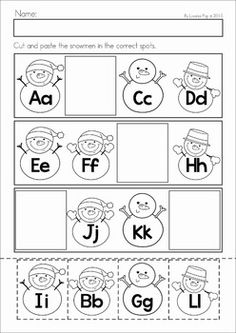 free winter cut and paste pattern worksheet kindergarten worksheets and activities. Black Bedroom Furniture Sets. Home Design Ideas