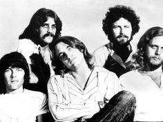 "The Eagles: Glenn Frey, Don Henley, Randy Meisner, Joe Walsh and Don Felder. ""All She Wants To Do Is Dance"" Eagles Music, The Eagles, Eagles Band, Music Film, Music Icon, Classic Blues, Classic Rock, Randy Meisner, Glenn Frey"