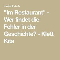 """""""Im Restaurant"""" - Wer findet die Fehler in der Geschichte? - Klett Kita"""