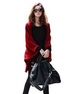 [BlackFridaySale]女性のバットウィングスリーブプラスサイズ緩いニットケープ – JPY ¥ 1,200
