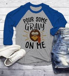 Mens Funny Thanksgiving T Shirt Pour Gravy On Me Turkey Graphic Tee Cute Shirts 3/4 Sleeve Raglan - Funny Thanksgiving Shirts - Ideas of Funny Thanksgiving Shirts #shirts #thanksgiving #thanksgivingshirts -   Men's Funny Thanksgiving T Shirt Pour Gravy On Me Turkey Graphic Tee Cute Shirts 3/4 Sleeve Raglan