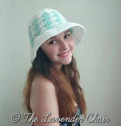 Simple Shells Floppy Sun Hat - Free Crochet Pattern - The Lavender Chair