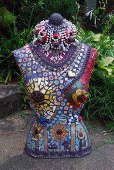 Mosaic bust by Kandy Jones