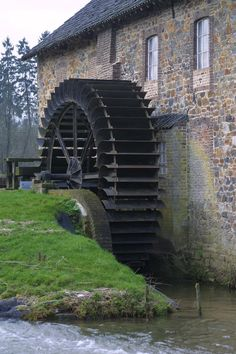 Old Grist Mill, Water Wheels, Holland Netherlands, Water Mill, Nature Water, Le Moulin, Windmill, Homeland, Country Life