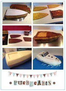 Speedboat cake tutorial BY Puckycakes Georgia Suter