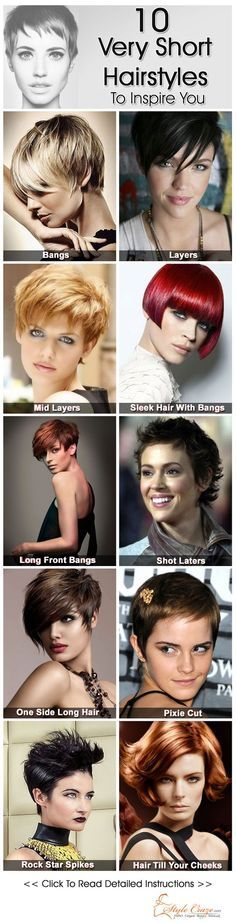 So you think very short hair can never bring out your natural beauty and feminine charm. Check out these very short hairstyles for women…