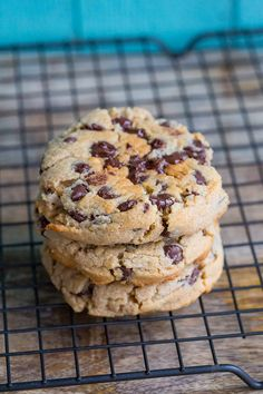 Thick & Chewy Peanut Butter Chocolate Chip Cookies from @kitchenmagpie