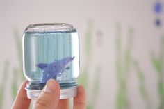 Cute party craft; maybe with fish instead of sharks from delia creates