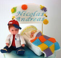 torturi-de-vis: Tort de botez cu clowni pentru Nicolas Andreas
