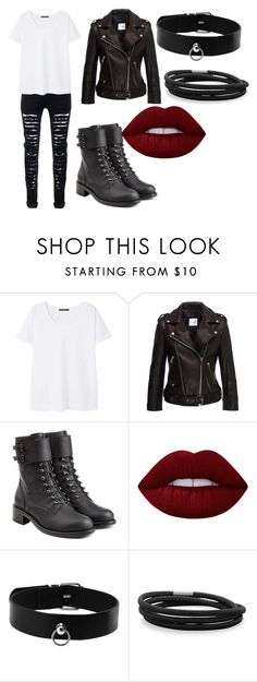 """Biker chick"" by lauren53103 on Polyvore featuring MANGO, Anine Bing, Philosophy di Lorenzo Serafini, Lime Crime, BillyTheTree, biker, Costume and Bikerchick"