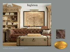 Chesterfield 3 Sitzer Sofa</br>Ingleton 3 Old Look Braun