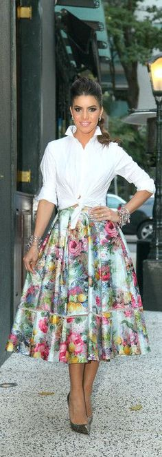 Floral Midi Skirt - SuperVaidosa