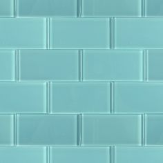 Loft Turquoise Polished 3 X 6 Glass Subway Tile For Kitchen Backsplash