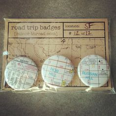 Road Trip Badges - great for that girls weekend away, or a bachelor/bachelorette party, summer vacation souvenir