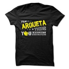 I Love If your name is ARGUETA then this is just for you Shirts & Tees