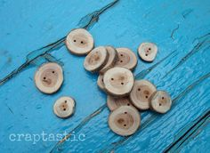 wood buttons. so cute!