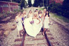 Railroad.....bridal party  #wedding #photography
