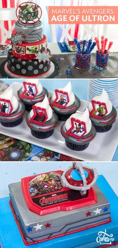 Marvel's Avengers Cake Ideas with step-by-step decorating instructions for a superhero birthday party