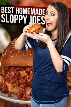 The Best Sloppy Joes are homemade and delicious enough for adults and kids alike! The whole family will love this delicious easy dinner. Venison Recipes, Burger Recipes, Chili Recipes, Meat Recipes, Cooking Recipes, Recipies, Bbq Sandwich, Sandwiches, Best Comfort Food