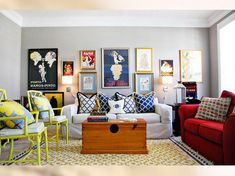 Plain Living Room With Colorful Accents at Awesome Colorful Living Room Design Ideas